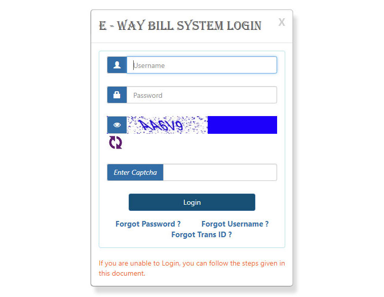 Click on the LOGIN button and fill in the required fields